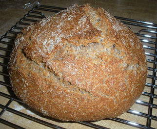 Loaf made with 100% Red Fife wheat flour